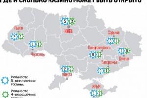 Скільки казино можуть відкрити в Україні і в яких містах