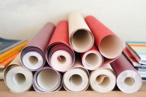 Виды бумажных обоев