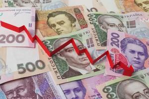 Украинская национальная валюта упала вслед за рублем