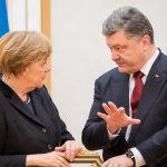 Меркель рассказала Порошенко о визите в РФ