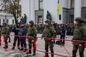 Митингующие ушли из-под здания Верховной Рады