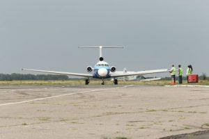 Аэропорт «Полтава» принял первый пассажирский рейс