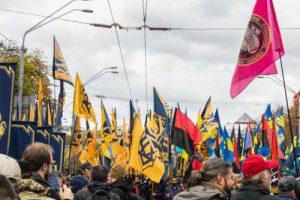 В Киеве стартовал марш националистов