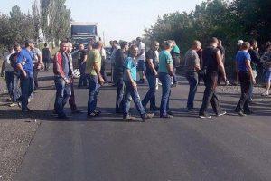 Украинские шахтеры снова перекрыли дорогу из-за долгов по зарплате