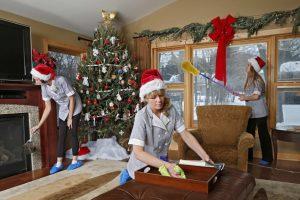 Уборка квартиры перед новогодними праздниками