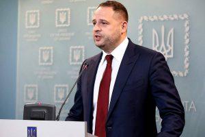 Глава офиса Зеленского заявил, что у Украины есть план урегулирования в Донбассе